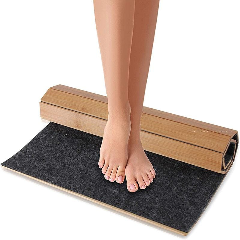 Foldable Bamboo Bath Mat