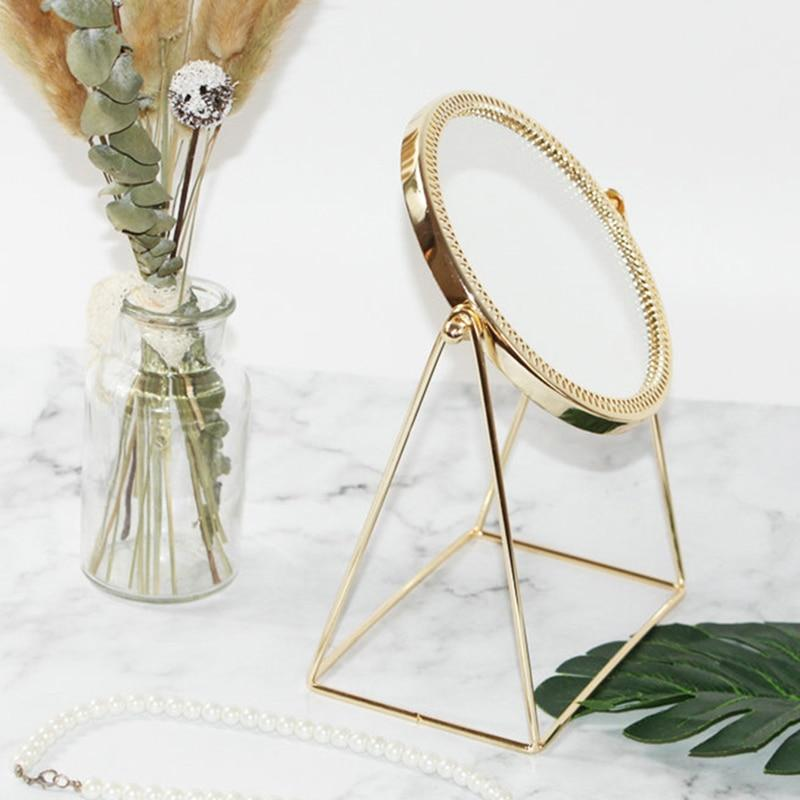 Golden Makeup Mirror