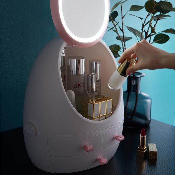 Cosmetics Storage Mirror