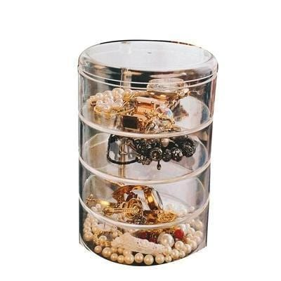 Transparent Tiered Jewelry Storage