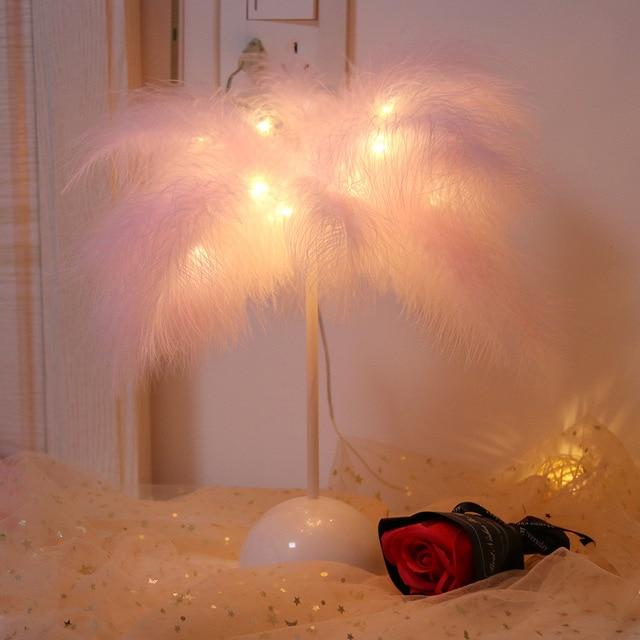 Feather Night Light