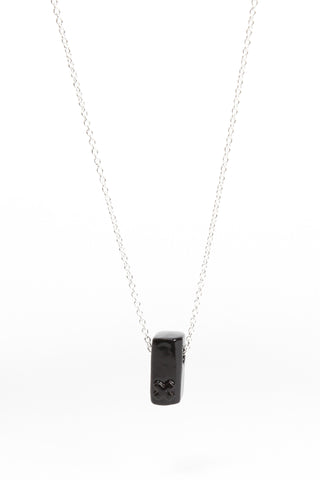 Coloured Block Pendant Black