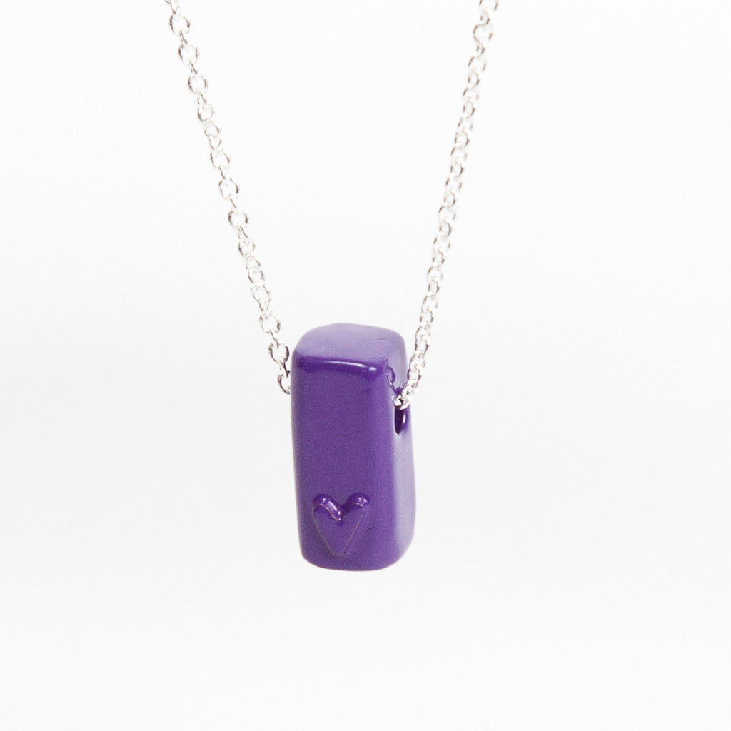 Coloured Block Pendant - Violet