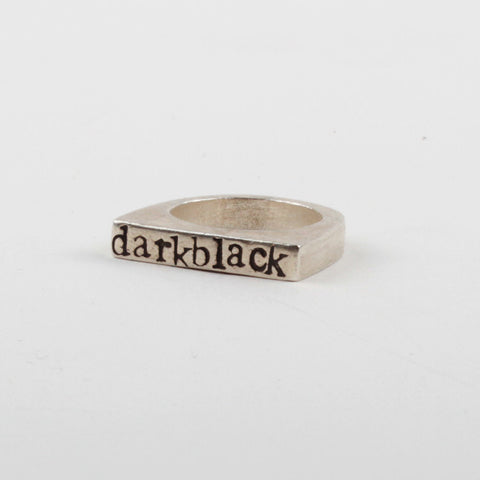 Darkblack Stacker Ring - Black