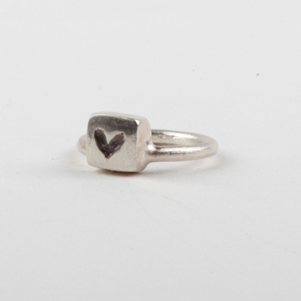Heart Stacker Ring - Black
