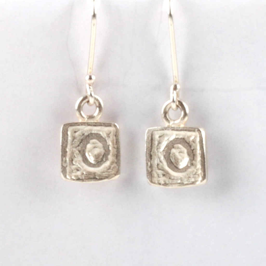 OO Tile Earrings - Silver