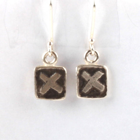 XX Tile Earrings - Black