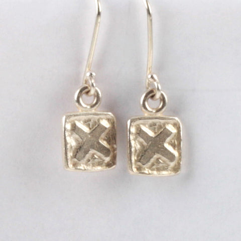 XX Tile Earrings - Silver