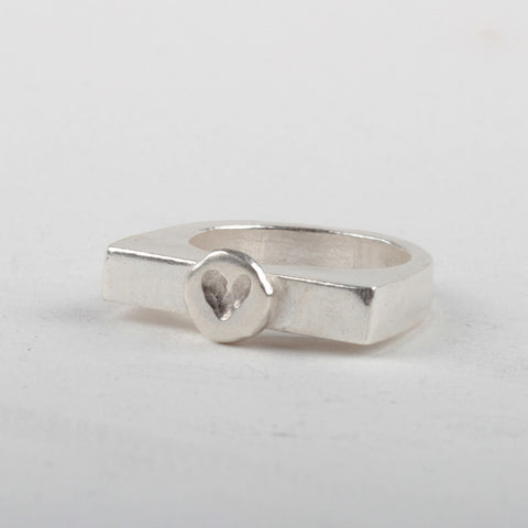 Heart Stacker Ring - Silver