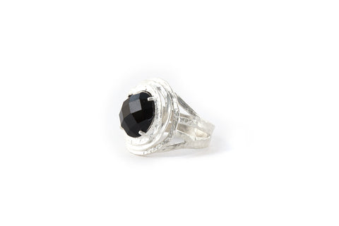 Nest Ring Onyx Facet (Black)