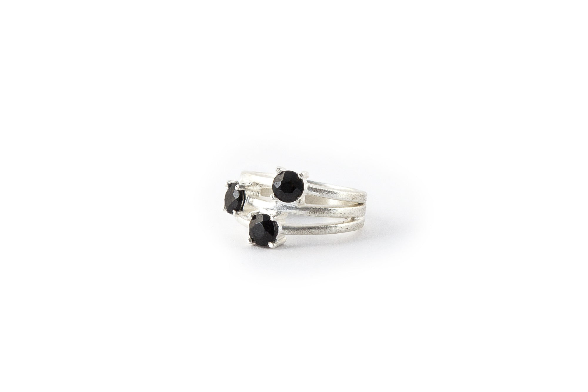 Triple Stone Ring Onyx (Black)