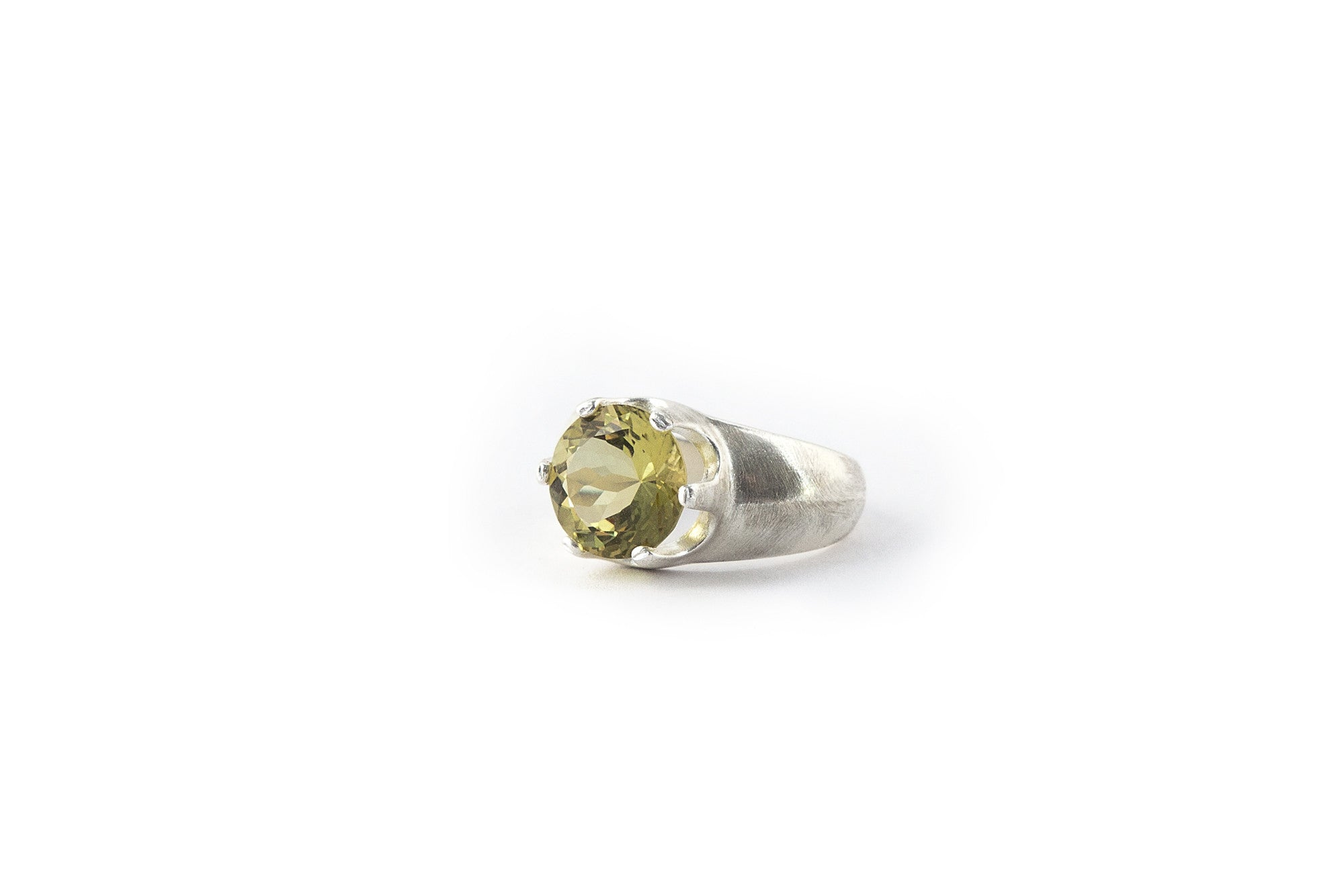 Large Crown Ring - Lemon Quartz (Yellow)