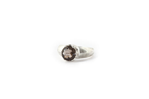 Medium Crown Ring - Smokey Quartz (Brown)