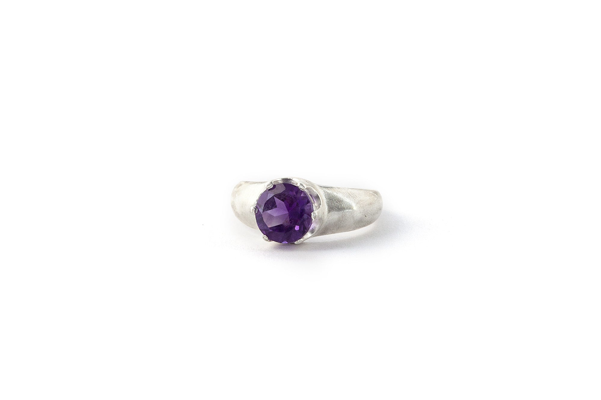 Medium Crown Ring - Amethyst (Purple)