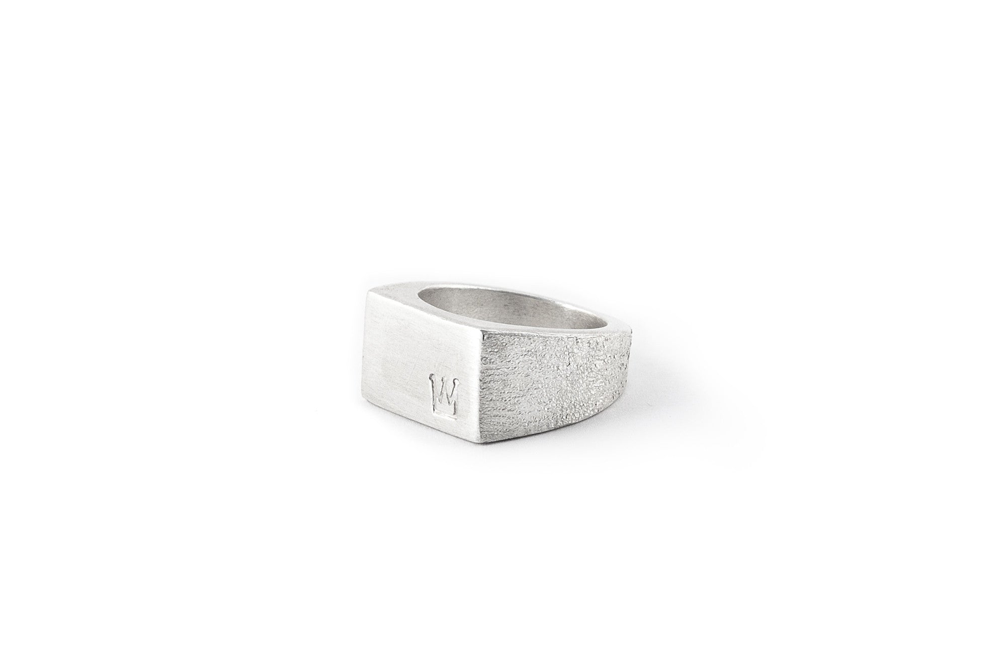 Crown Oblong Signet Ring