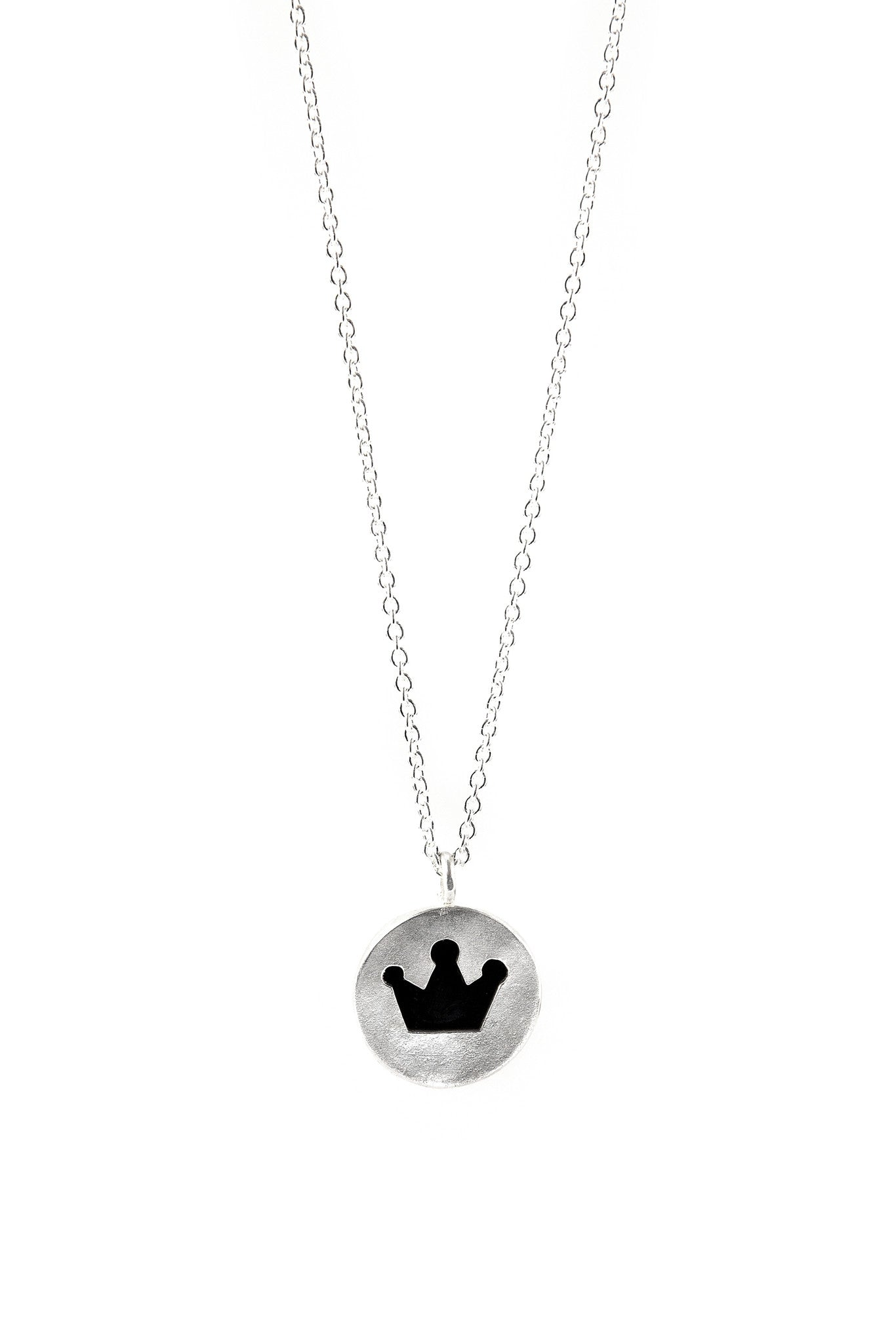 Crown Cut Out Pendant