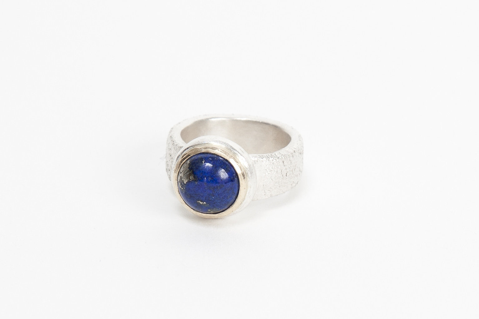 Gold Top Cocktail Ring - Lapis Lazuli