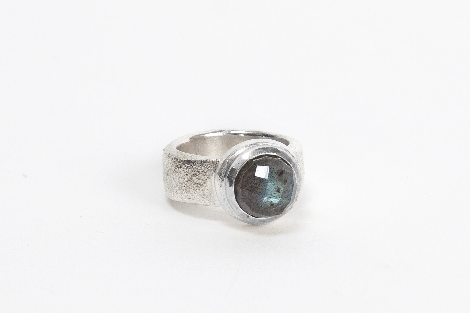 Silver Top Cocktail Ring - Labradorite