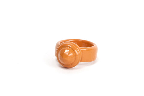 Coloured Cocktail Ring - Orange