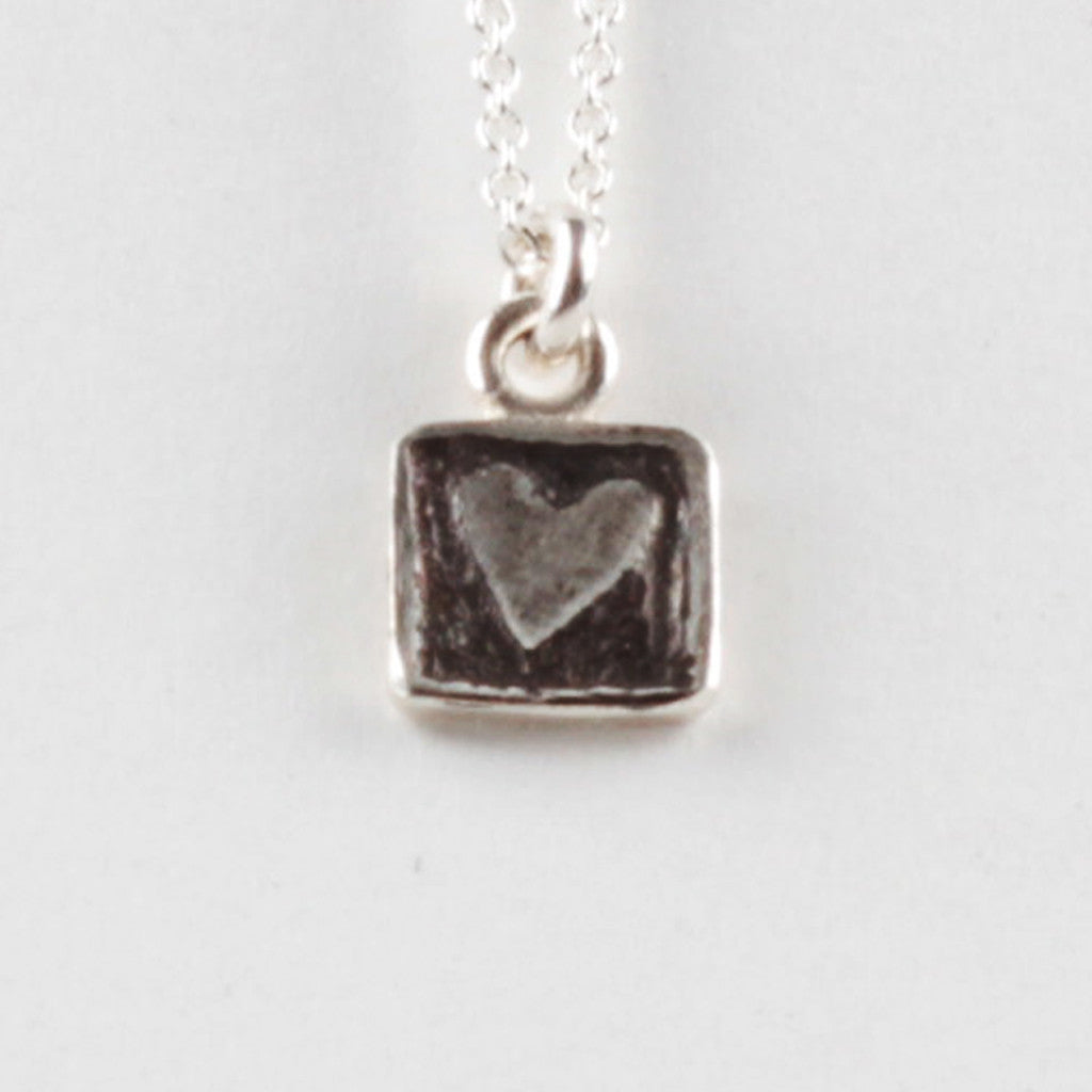 Heart Tile Pendant - Black