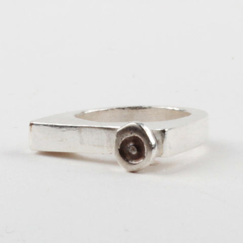 O Stacker Ring - Silver