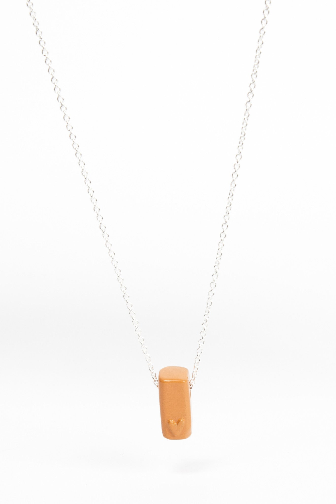 Coloured Block Pendant - Orange