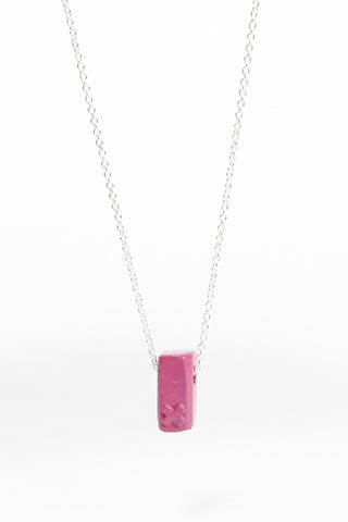 Coloured Block Pendant - Pink