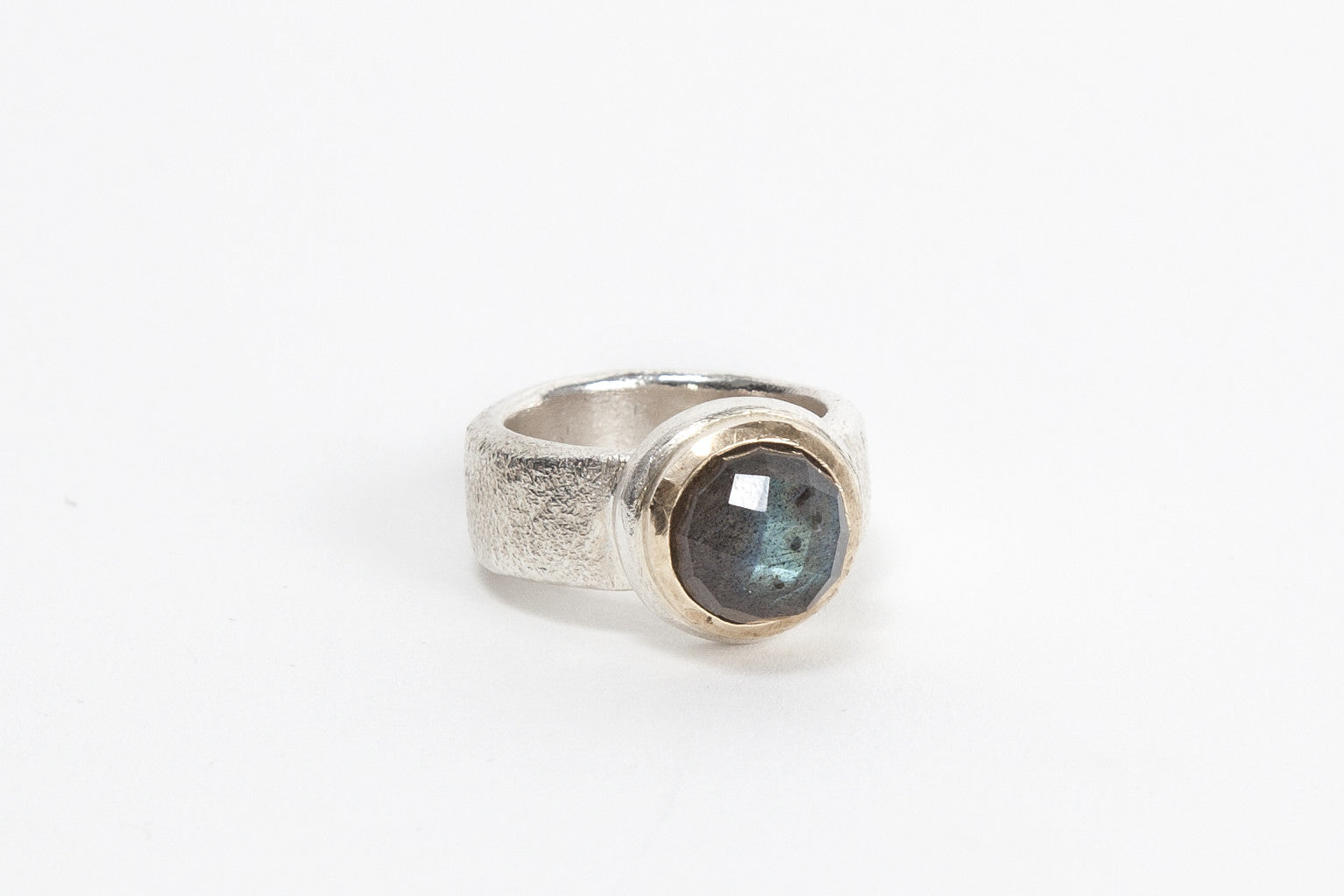 Gold Top Cocktail Ring - Labradorite