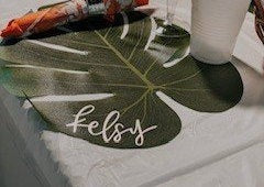 Palm Leaf Place Cards