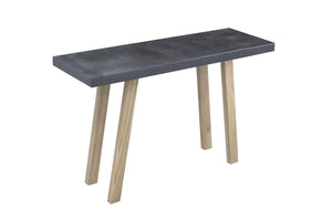 Slate Grey Rectangular Console Table