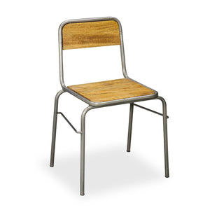 Urban Industrial Retro Stacking Occasional Dining Chair