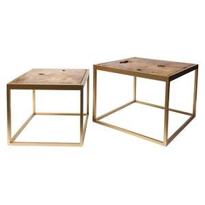 Nest of 2 Square Luxe Coffee Tables