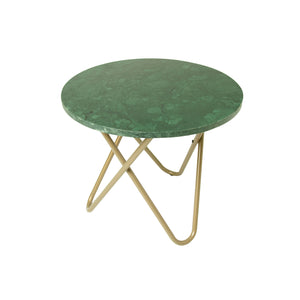 Round Marble Lamp Table with Gold legs
