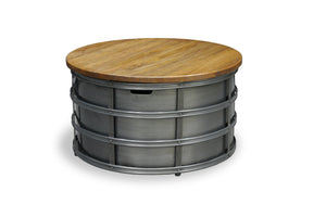 Urban Industrial  Round Metal Coffee Table