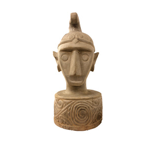 Folk Art Head Sculpture
