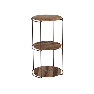 Round Kleo Recycled Boatwood Shelving Unit