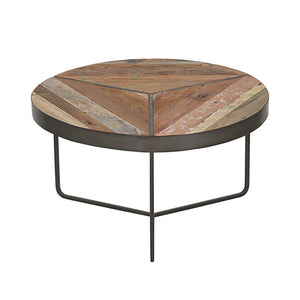 Round Kleo Recycled Boatwood Coffee Table