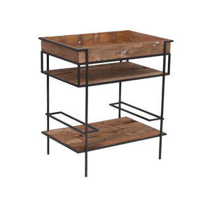 KLEO Industrial Boatwood Kitchen Rack