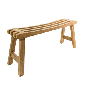 Solid Teak Root Slatted Bench Indoor/Outdoor