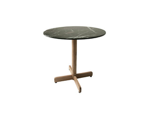 Marble Effect Bistro Dining Table - Black