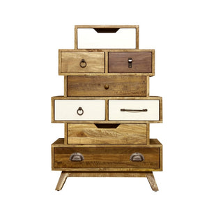 Artisan Light Mixed Staggered 8 Drawer Chest