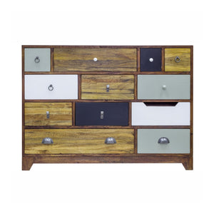 Artisan Wide Multi Drawer Chest - Multicoloured/Dark
