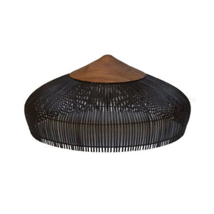 Black Teak Root Rattan Lamp Light Shade