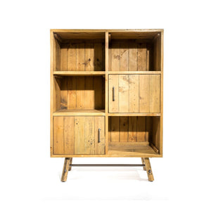 Clifton Reclaimed Pine Dresser Bookcase