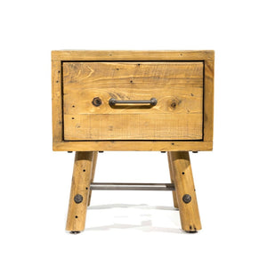 Clifton Reclaimed Pine Side Table with Drawer