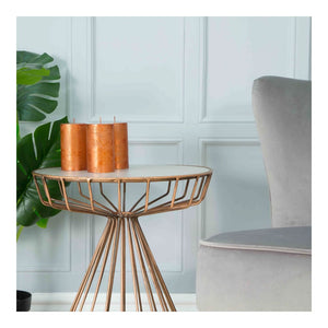 Copper Pillar Candle 7 x 12cm