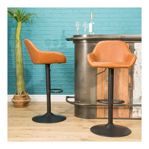 Faux Leather Gas Lift Barstools Set of Two (£109.50 each)