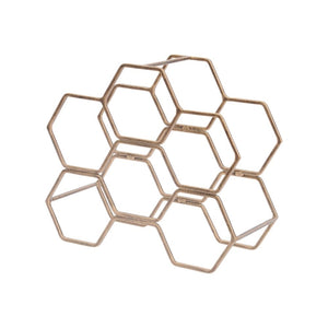 Gold Geometric Wine Rack
