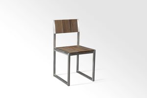 Grade A Teak Garden Dining Chair Weathered Grey