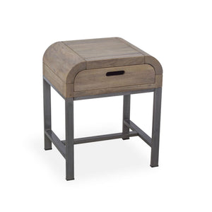 Grey Wash Mango Side Table with Drawer